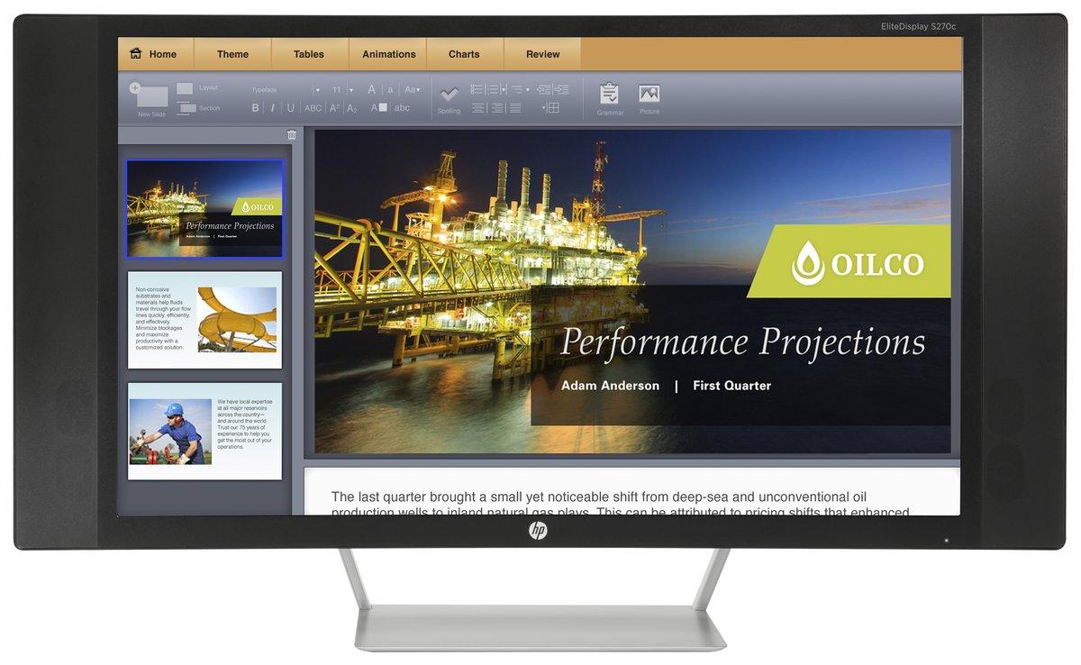 Product | HP EliteDisplay S270c - LCD monitor - 27