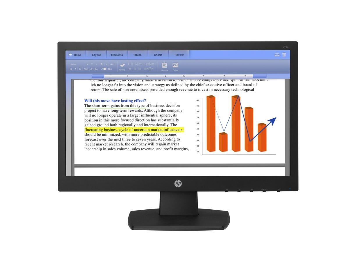 slide 1 of 4,show larger image, hp v194 18.5-inch monitor