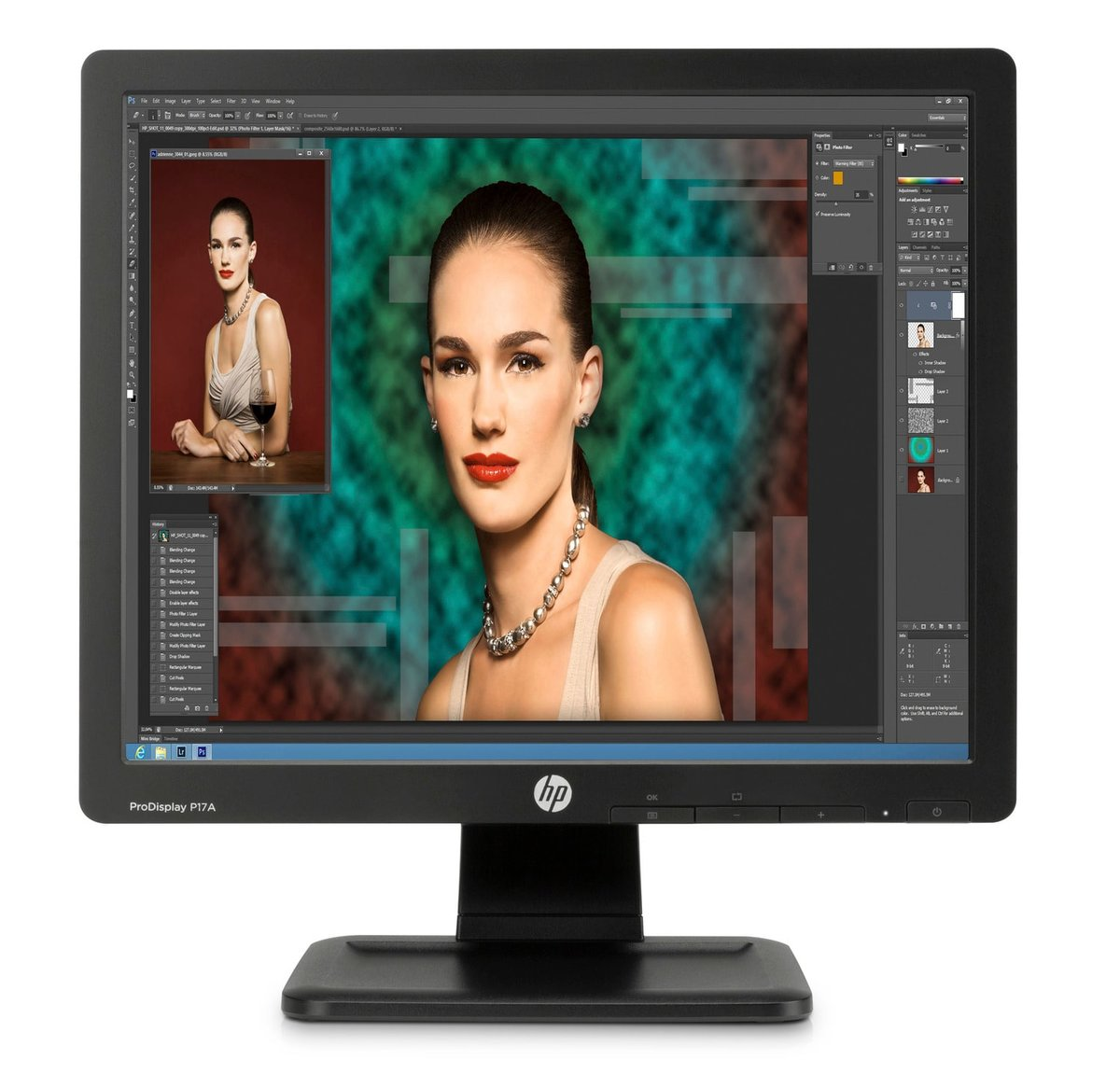 HP ProDisplay P17A 17-inch 5:4 LED Backlit Monitor,3-years  Square