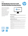 HP EliteDisplay S231d 23-in IPS LED BLU Notebook Docking Monitor