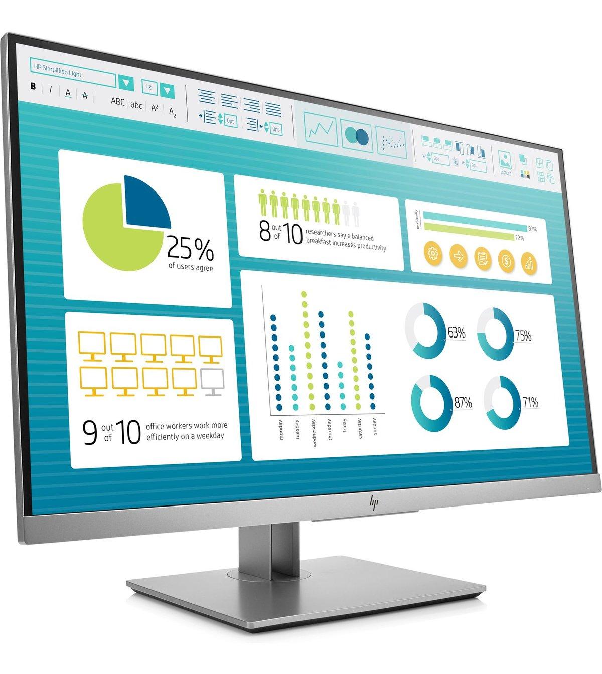 slide 2 of 5,show larger image, hp elitedisplay e273 27-inch monitor head only