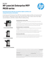 HP LaserJet Enterprise MFP M630 printer series