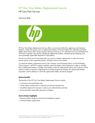 HP One Time Battery Replacement Service data sheet