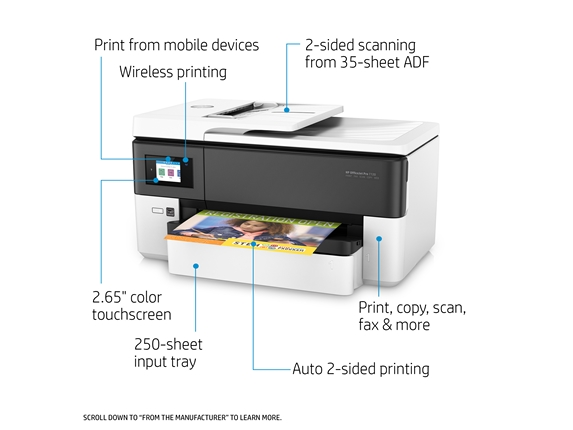 投影片第 7 張,共 20 張,顯示較大影像, hp officejet pro 7720 大尺寸 all-in-one 印表機