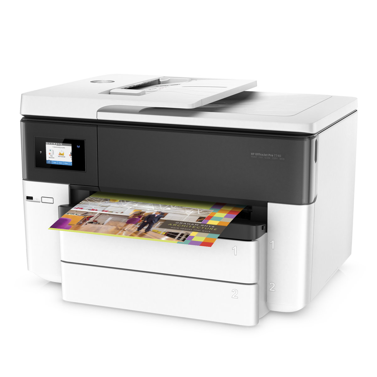 HP Officejet Pro 7740 Wide Format All-In-One Printer | Staples