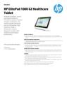 AMS HP ElitePad 1000 G2 Healthcare Tablet Datasheet