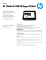 AMS HP ElitePad 1000 G2 Rugged Tablet Datasheet