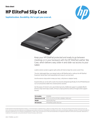 HP ElitePad Leather Slip Case Data Sheet