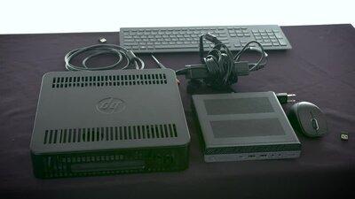 HP EliteDesk 800 G3 - mini desktop - Core i5 7500T 2 7 GHz - 8 GB - 256 GB  - US