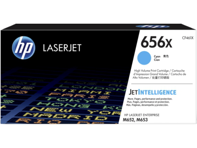 HP 656X High Yield Cyan Original LaserJet Toner Cartridge