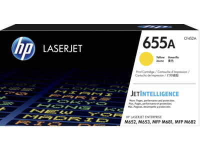 HP 655A Yellow Original LaserJet Toner Cartridge