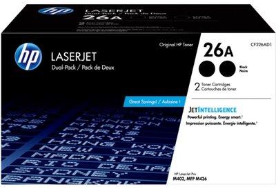HP 26A 2-pack Black Original LaserJet Toner Cartridges
