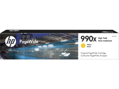 HP 990X High Yield Yellow Original PageWide Cartridge