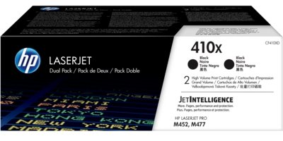 HP 410X 2-pack High Yield Black Original LaserJet Toner Cartridges