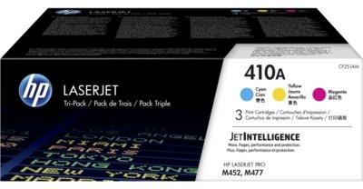 HP 410A 3-pack Cyan/Magenta/Yellow Original LaserJet Toner Cartridges
