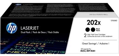 HP 202X 2-pack High Yield Black Original LaserJet Toner Cartridges