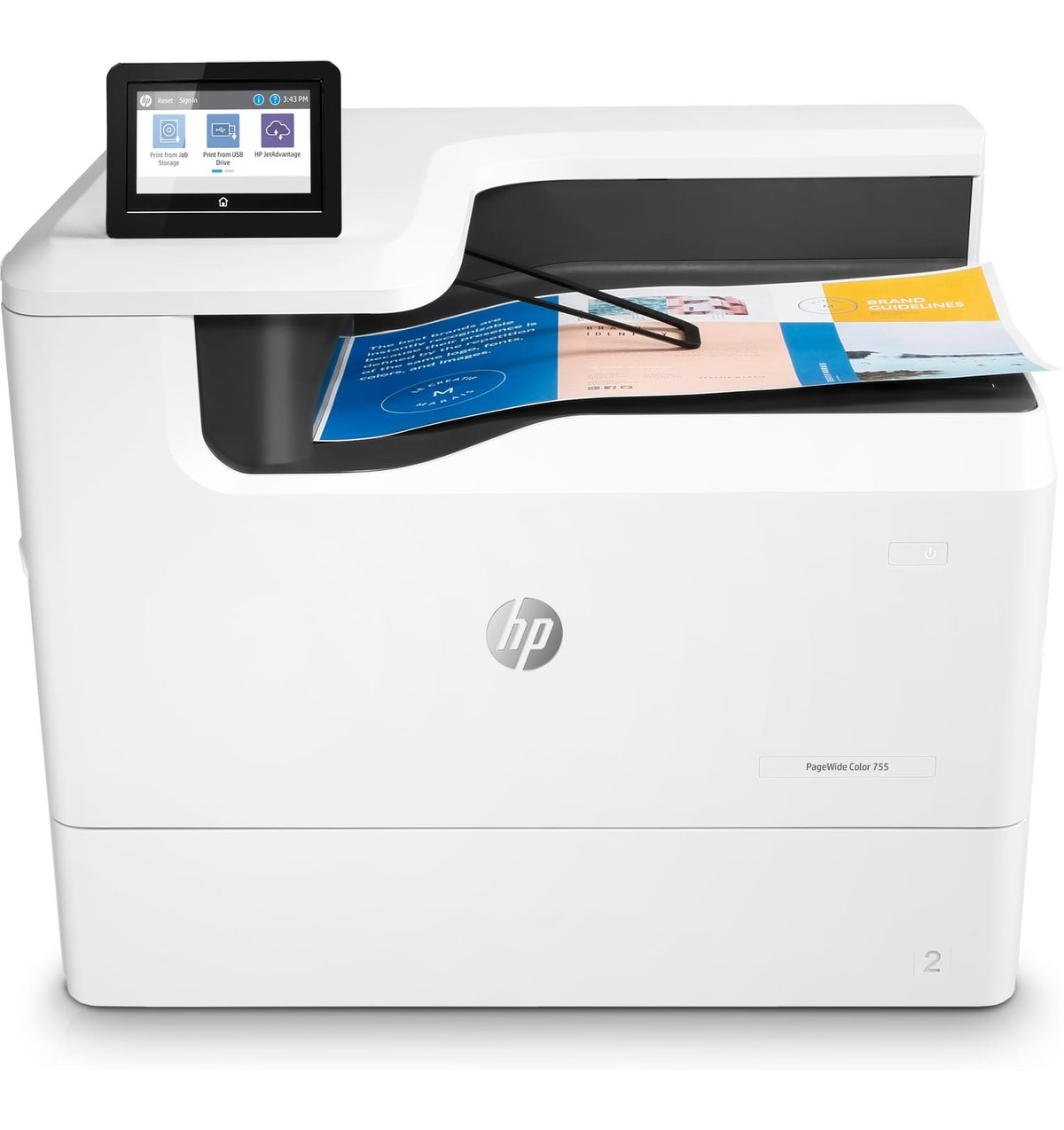 fb58a19e13c HP PageWide 755dn - Color Printer - Inkjet - A3 - USB / Ethernet ...