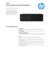 HP Z2 Small Form Factor G4 Workstation