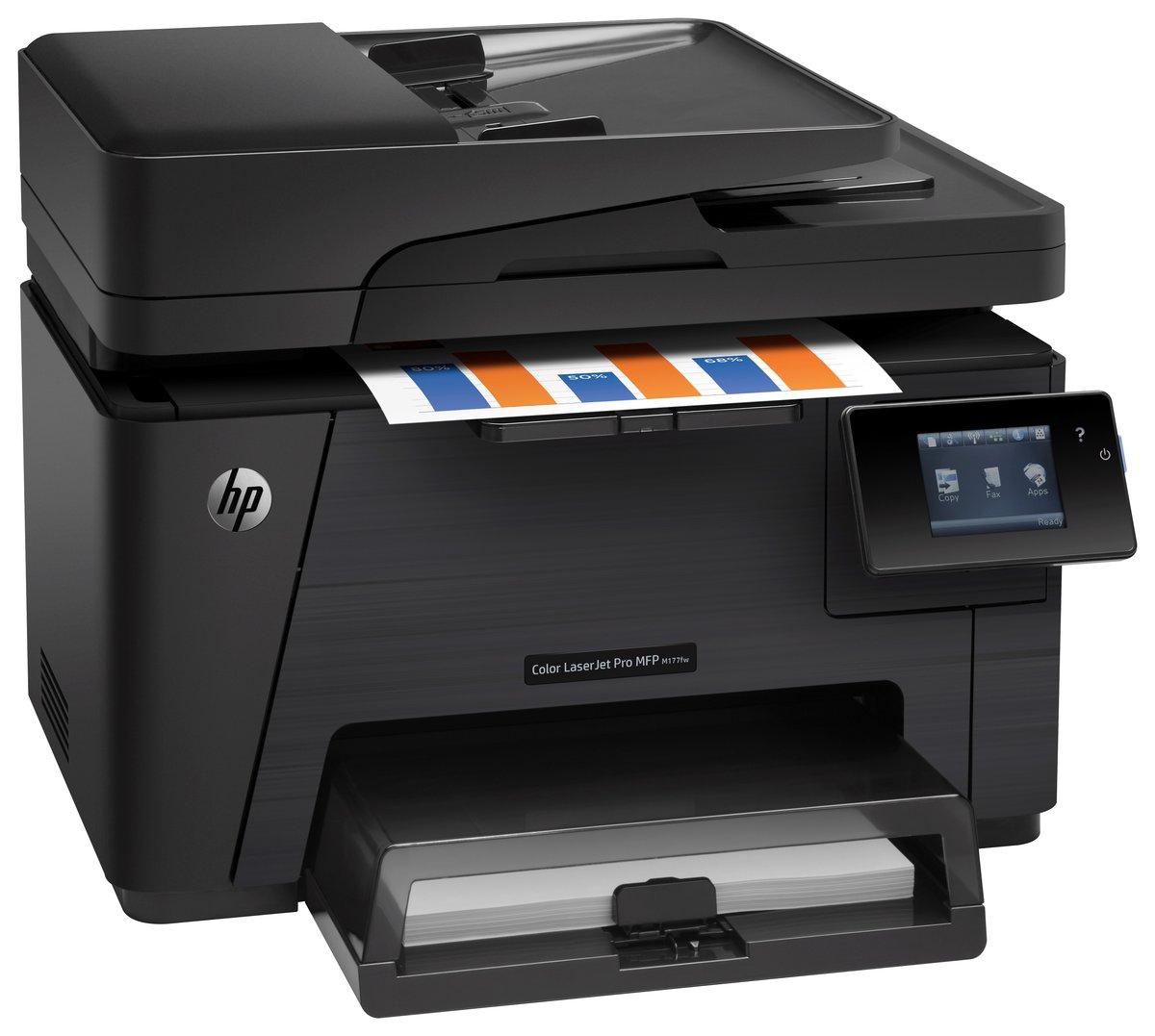 Color wireless printer laser - Hp Laserjet Pro Wireless Color Laser All In One Printer Copier Scanner Fax M177fw By Office Depot Officemax