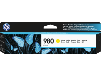 HP 980 Yellow Original Ink Cartridge for US Government
