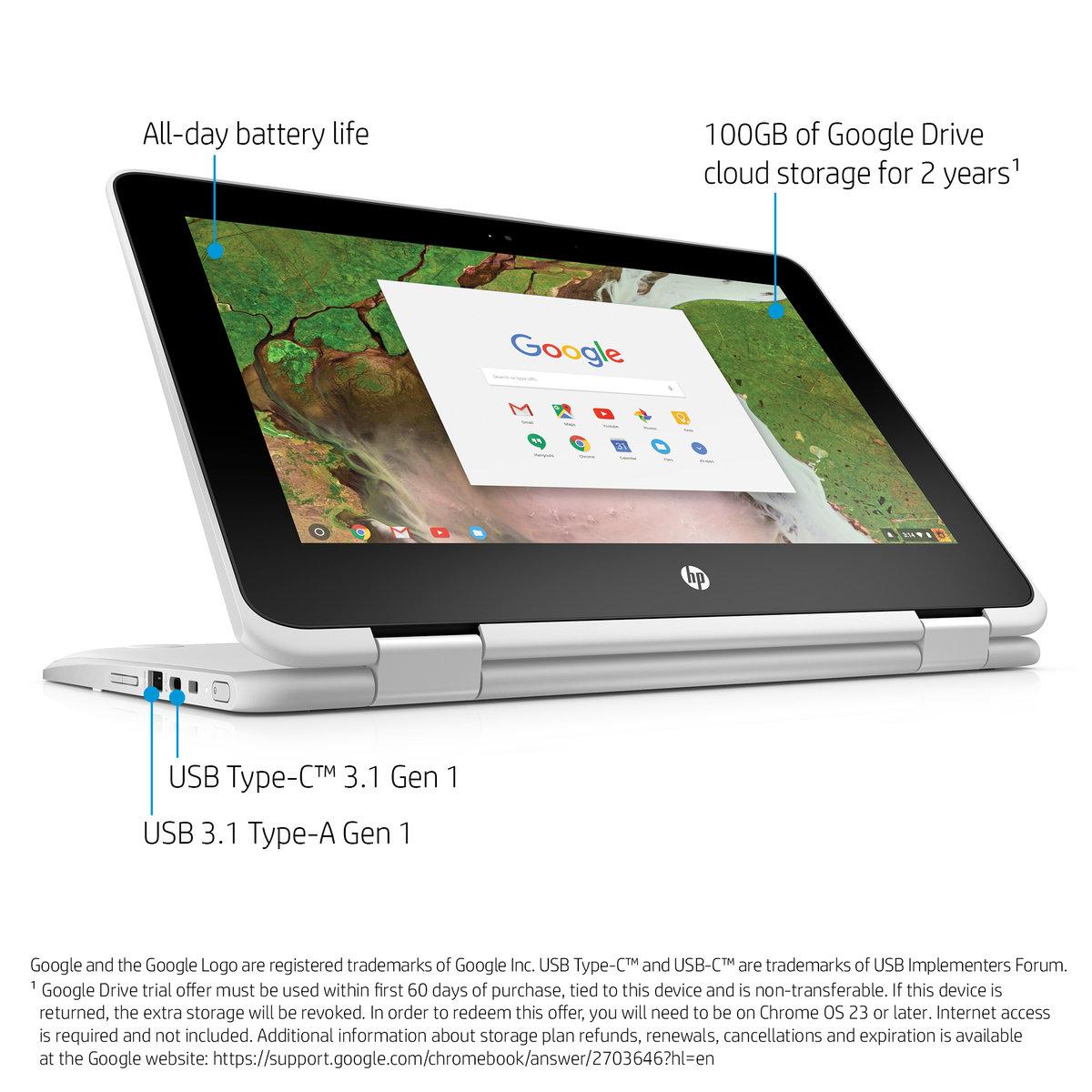 HP Chromebook x360 11-AE030NR Celeron N3350 Chrome OS