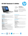 HP ENVY Notebook - 13-d040nr (ENERGY STAR)