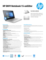 HP ENVY Notebook 15-as020nr (Touch) (ENERGY STAR)