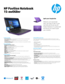 HP Pavilion 15-aw068nr (Touch) (ENERGY STAR)