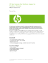 HP Next Business Day Hardware Support for Travelers data sheet - Americas US English