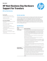 HP Next Business Day Hardware Support for Travelers data sheet - US English