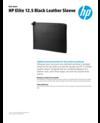 HP Elite 12.5 Black Leather Sleeve (English)