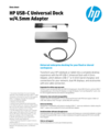 HP USB-C Universal Dock w/4.5 mm Adapter (English)