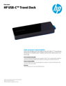 HP USB-C Travel Dock (English)