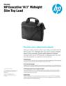 "HP Executive 14.1"" Midnight Slim Top Load (English)"