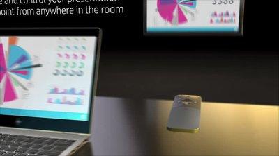 diapositive 1 sur 6,zoom avant, souris de présentation hp elite