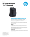 """WW -ACS HP Recycled Series 15.6"""" Top Load - 1/19 - EN (English)"""