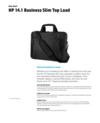 HP 14.1 Business Slim Top Load (English)