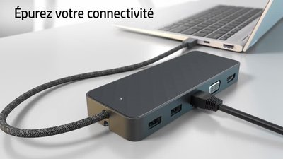 HP USB-C mini Dock - station d'accueil - VGA, HDMI (1PM64AA#AC3)