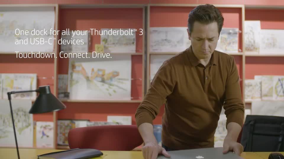diapositive 5 sur 12,agrandir l'image, station d'accueil hp thunderbolt g2 avec câble combiné