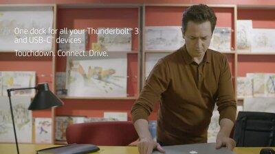 diapositive 5 sur 8,zoom avant, station d'accueil hp thunderbolt 120 w g2 avec audio