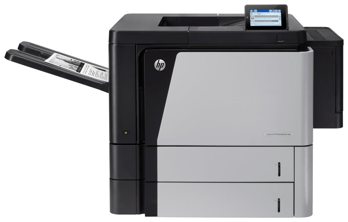 slide 2 of 4,show larger image, hp laserjet enterprise m806dn printer