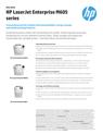 HP LaserJet Enterprise M605 Printer Series