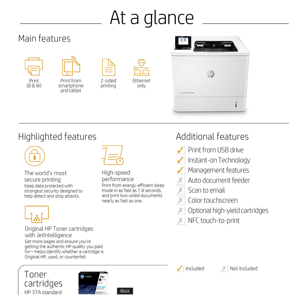 HP LaserJet Enterprise M607dn – AllMax vision