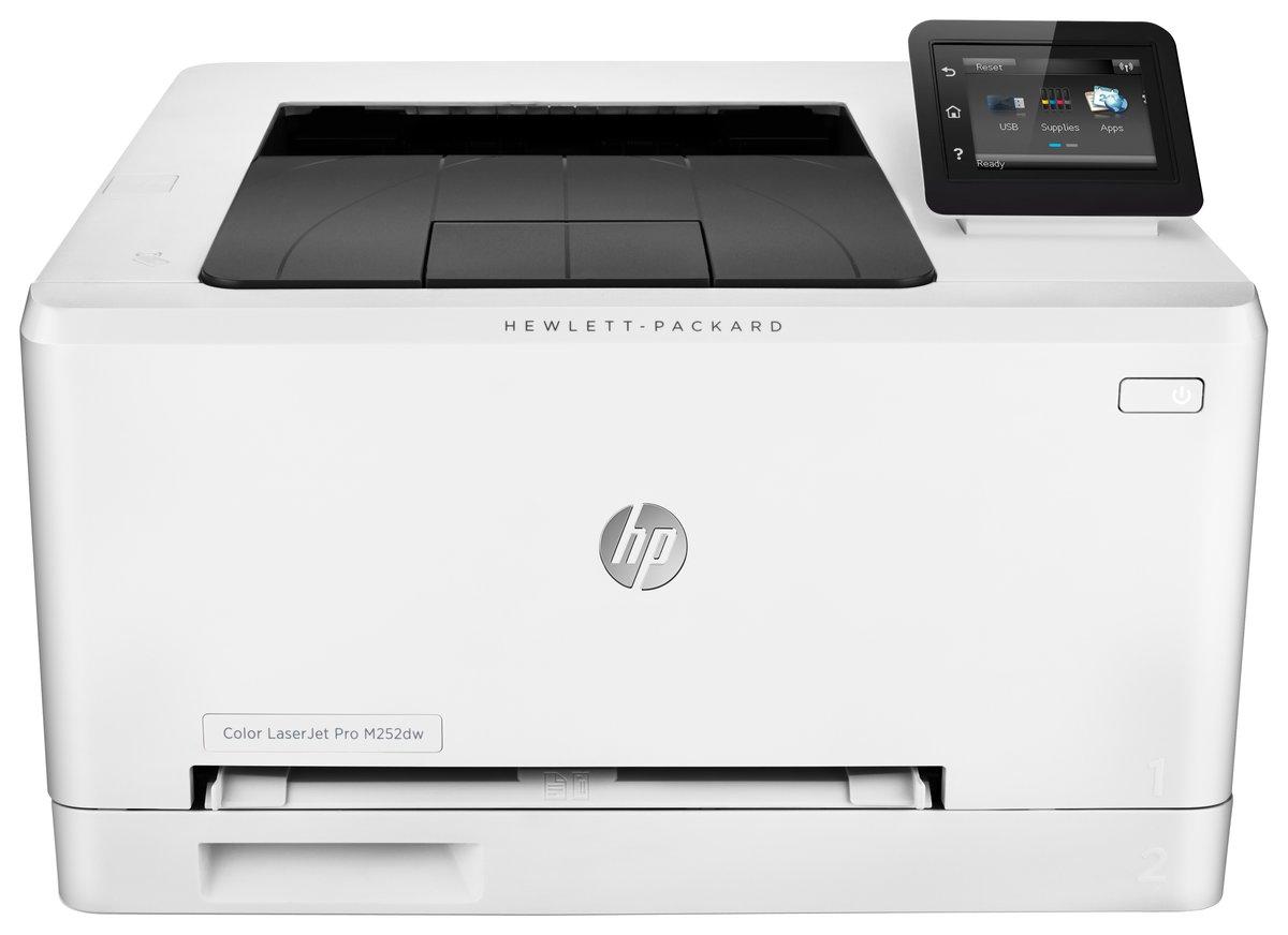 Color wireless printer laser - Hp Laserjet Pro M252dw Wireless Color Laser Printer With Jetintelligence By Office Depot Officemax