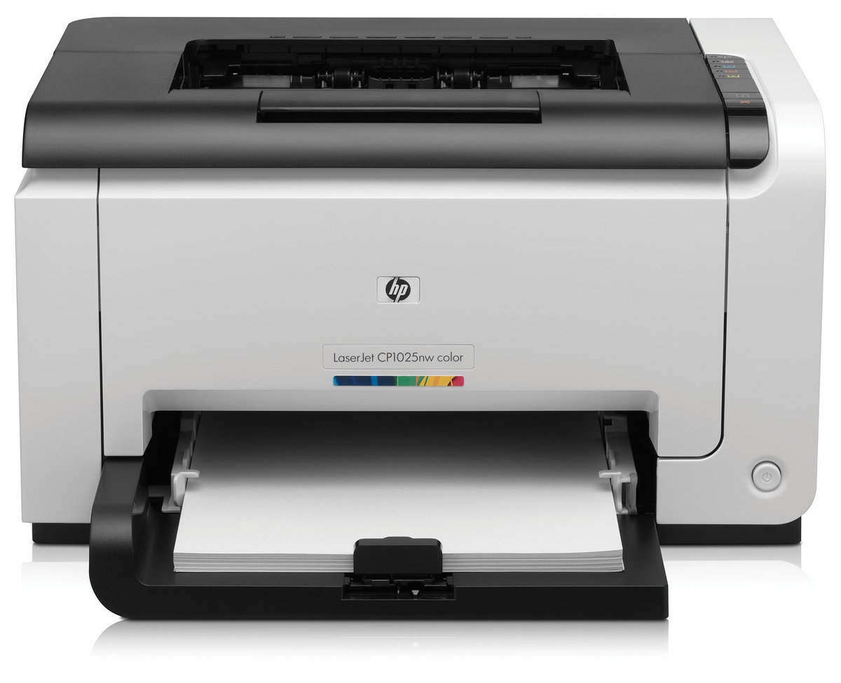 slide 1 of 6,show larger image, hp laserjet pro cp1025nw color printer