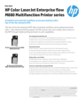 HP Color LaserJet Enterprise flow M880 Multifunction Printer series