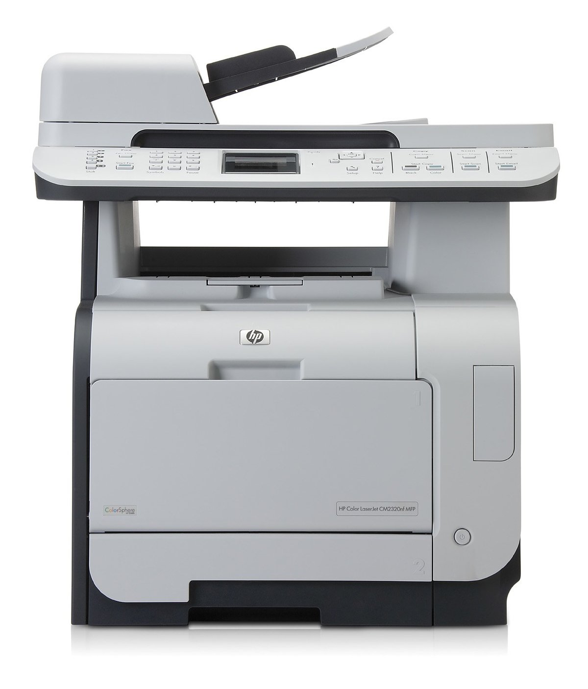 slide 1 of 5,show larger image, hp color laserjet cm2320nf multifunction  printer