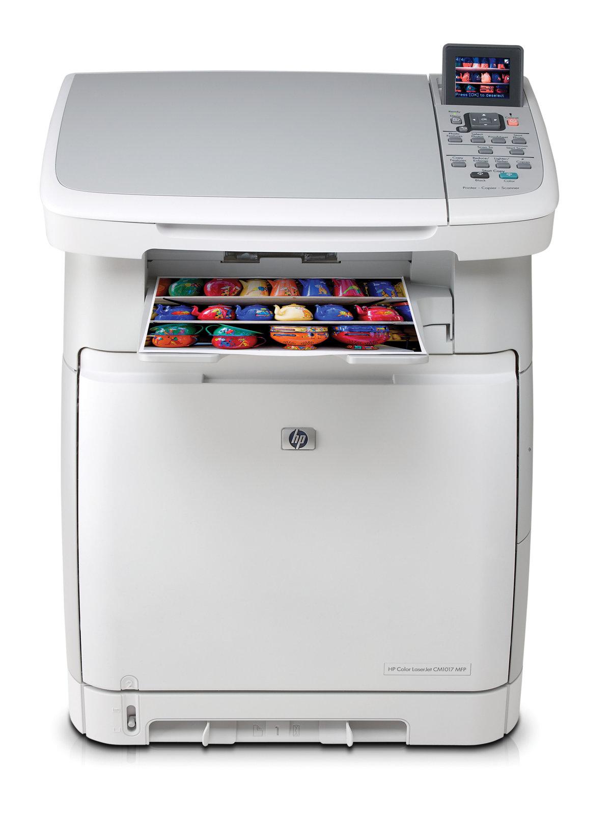 slide 1 of 6,show larger image, hp color laserjet cm1017 multifunction  printer