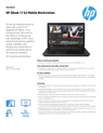 HP ZBook 17 G2 Mobile Workstation Datasheet (English AMS))v2