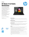 HP ZBook 14 G2 Mobile Workstation(English(AMS))